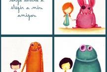 my work / Children's books illustrations, children's illustrations, Acrylics, Photoshop.