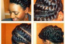 Natural Hair Updo / by Sweet Tart Beauty