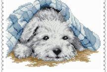 Haft Krzyżykowy - Pieski