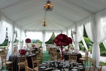 Tents /  Shipley Enterprises specializes in unique event decor and design such as lighting, drapes, dance floors, gobos, chuppahs, chandeliers, and more