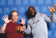 Our Jazz Hands Gallery / My wife and I have fun posing for photo ops with actors and celebrities at various Midwest geek conventions, 2014-present. And whenever our companions are willing, our theme is jazz hands!