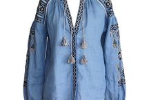 Embroidered / Great folk and ethnic designs, clothing and accents inspired by traditional embroidery.