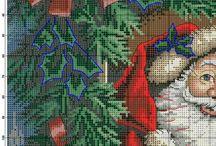 Mønstre for korssting Jul
