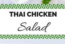 Salads / Thai chicken salad with lime dressing