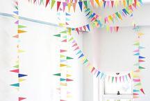 Baby birthday decor
