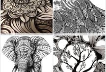 Zentangles, Zendalas & Patterns