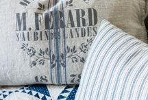 blauw wit eenvoudige quilt