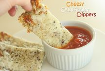 Cheese cauliflower dippers