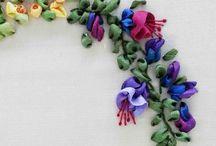 Satin ribbon Embroidery