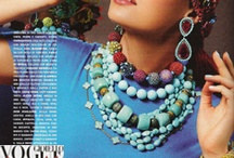Vogue Gioiello june 2011 featuring Paolo Costaglis 18mm Reconstructrd Turguoise bead necklace