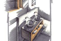 my sketches, hand rendering / Здесь собраны мои работы, скетчи, ручной рендеринг (Графика, маркеры, акварель, графический планшет+photoshop)