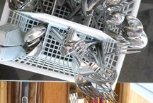 Storage Ideas / different way to store items thru out your home and garage / by isabel Garcia