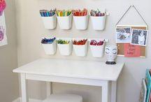 organize kids crafts