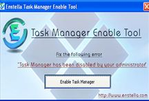 Enable task manager tool / Enable task manager tool easily fix all task manager errors and enable task manager within seconds. Software easily remove bad running problem and enable windows task manager.