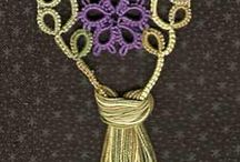 Tatted Violet Bookmark Pattern