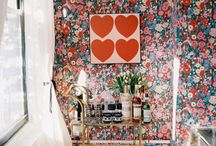 Interiors / daring combinations, layers of texture and pattern, dazzling focal points, comfort and kitsch, thrift store vintage. sweet 60s/70s nostalgia + country farmhouse + bohemian, with a splash of pink. i want to live there. / by Caity Birmingham
