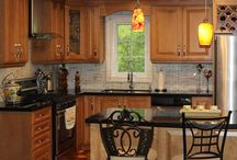 Solid Wood Kitchen Cabinets / Full Kitchen Remodel with Custom Kitchen Cabinets by Millo Kitchens and Baths