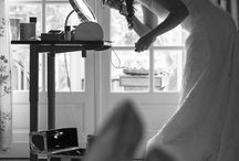 Préparatifs - Mariage / Belles photos des préparatifs de la future jeune mariée : séance de coiffure et de maquillage. Make Up mariage.