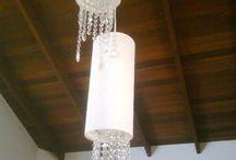 Luminárias / Trabalho que faço artesanalmente, criando ou reformando cúpulas e luminárias.