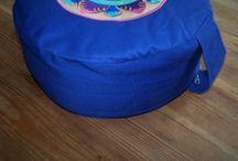 Meditation cushion large - 100% cotton - Manipura chakra / Meditation cushion large - 100% cotton - Manipura chakra