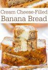 Banana bread cream cheese