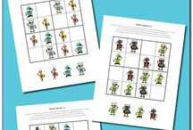 Robot Unit / Robot themed learning unit study for kids
