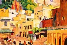 Morocco vintage posters