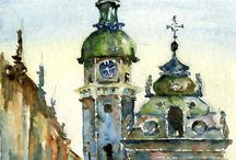 Watercolor Art: Architecture / by Marisete Facchini Girardello