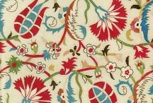 Embroider ottoman