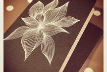 White pen art