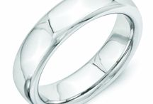 Vitalium Wedding Bands / Vitalium is a cobalt and chromium based metal. It is a perfected formula with added alloys to make it a hardened dense metal. It is twice as hard as Cobalt adn five times as hard as titanium. This scratch resistant, one of a kind metal can be easily removed from the finger and will keep its bright white finish. Vitalium is hypoallergenic.
