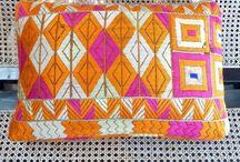 Indian fabrics and pillows