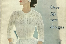 Vintage knits, crochet and sewing