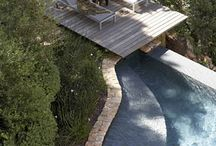 exterior spaces / decks, lanais, patios, porches, walkways, gazebos, pavilions....also see 'gardens' / by Susan Kennedy