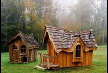 Casa de juegos de patio trasero