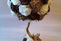 vasos com flores diferentes