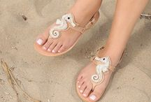 "Leather Handmade Luxury Sandals ""Seahorse"" DT - 768 crystal"