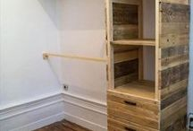 armario de paletas de madera