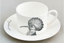 White Mint | Metamorphosis Tea Set Design / Fine bone china tea set with unique Metamorphosis design. Visit us here to see the full range - www.whitemint.co.uk