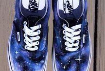 vans acrylic - galaxy