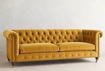 wohnen gelbes sofa