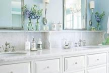 1950 blue yellow bathroom