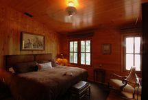 Blue Waters Mountain Lodge Rooms / Blue Waters Mountain Lodge features nine guest rooms, most of which offer panoramic lake and mountain views.  Each guestroom has been decorated with natural pine, rustic woods, and antique furnishings that reflect the mountain setting with autumn colors of moss, brick red and wheat.  Each room has a king (one has two twins), private bath, and satellite television as well as central heat and air.