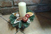 Vánoční aranžma / Vánoční věnce a svícny