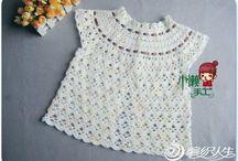Blusas niña crochet
