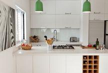 Kitchen bench wine rack concepts