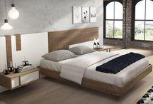 Respaldo de cama moderno