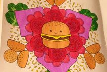 Cinnamon Bun Dreams Coloring Book / Pictures that I Have Colored From This Book