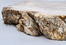 FOSSIL WOOD / Produkty wykonane ze materiału Fossil Wood- skamieniałe drewno