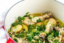 Juicy Chicken Recipes / Healthy chicken meals are a staple in my home; we consume chicken as much as any other meat.  This diverse collection of chicken recipes range from game day chicken wings to chicken salads, marinated chicken thighs to chicken soup.  Italian, Asian, American influences can be found in these dishes, each with easy steps on preparing the chicken to juicy perfection.